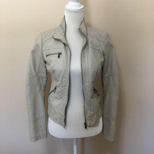 Xhilaration Faux Leather Jacket Stone/Grey